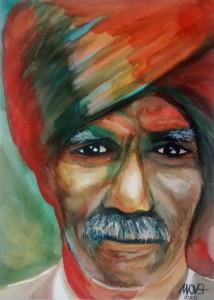 Red turban