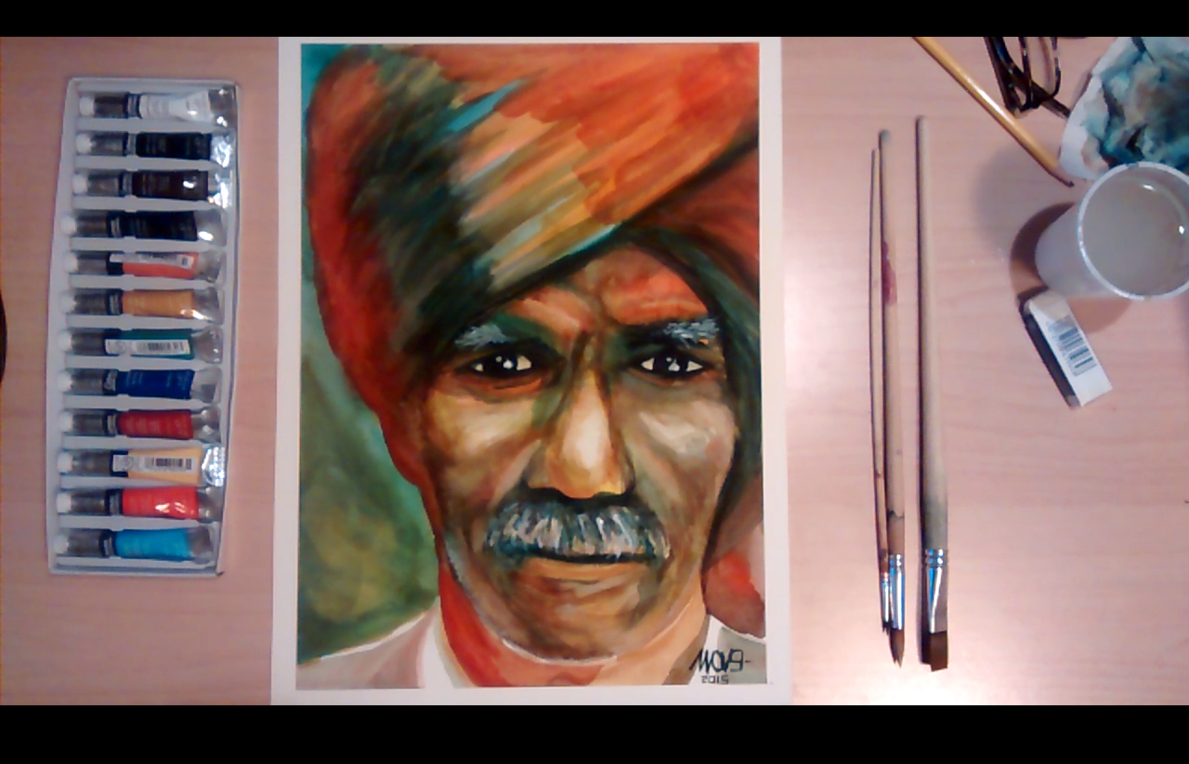 Red turban cover