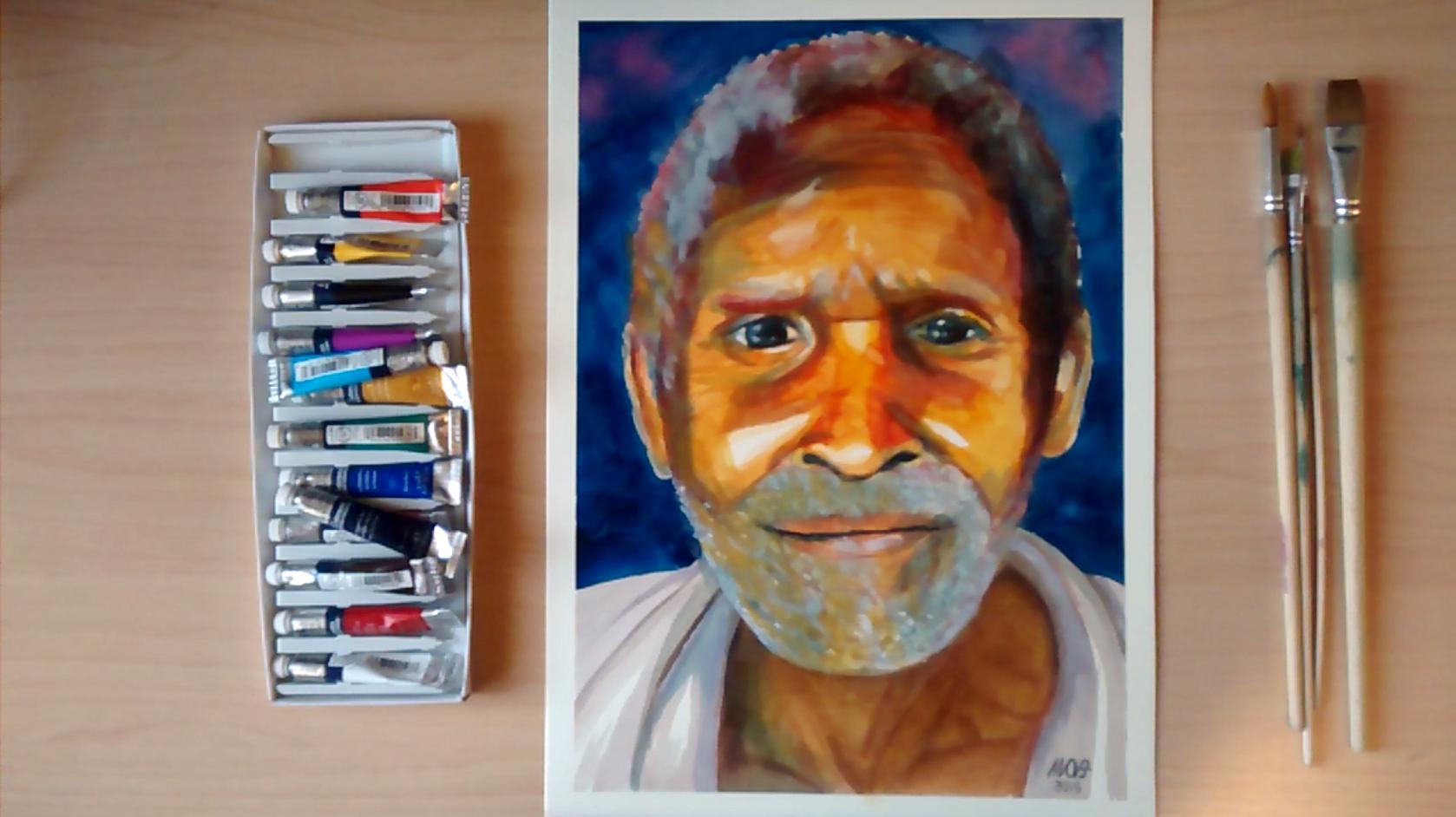 Orange look (COVER) - Watercolor portrait