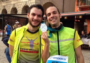Io e Sergio alla Maratona di Verona