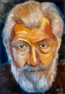 White wizard - watercolor portrait